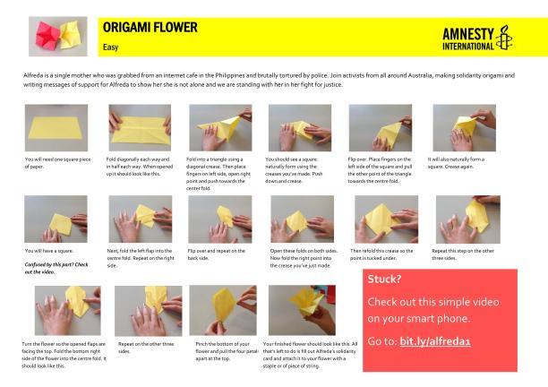 Origami Flower for Alfreda